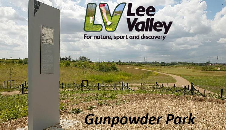 Gunpowder Park cycling and walking trail 5 miles in length.