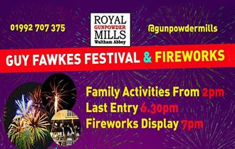 Guy Fawkes Festival & Fireworks at the Royal Gunpowder Mills