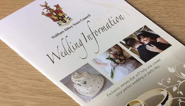 Weddings at Waltham Abbey Town Hall booklet