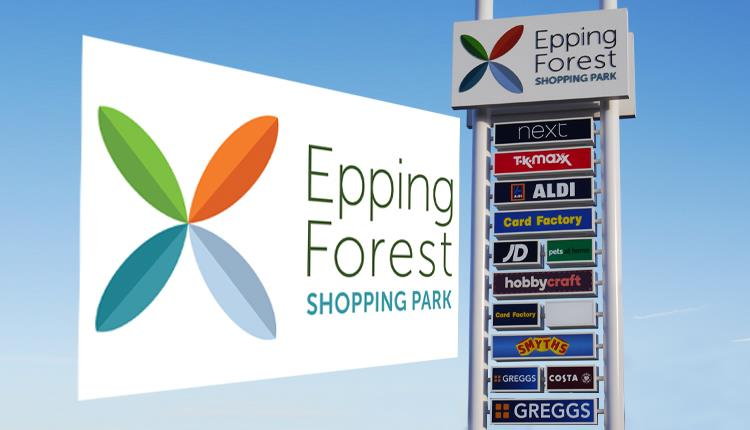 Epping Forest Shopping Park logo and sign