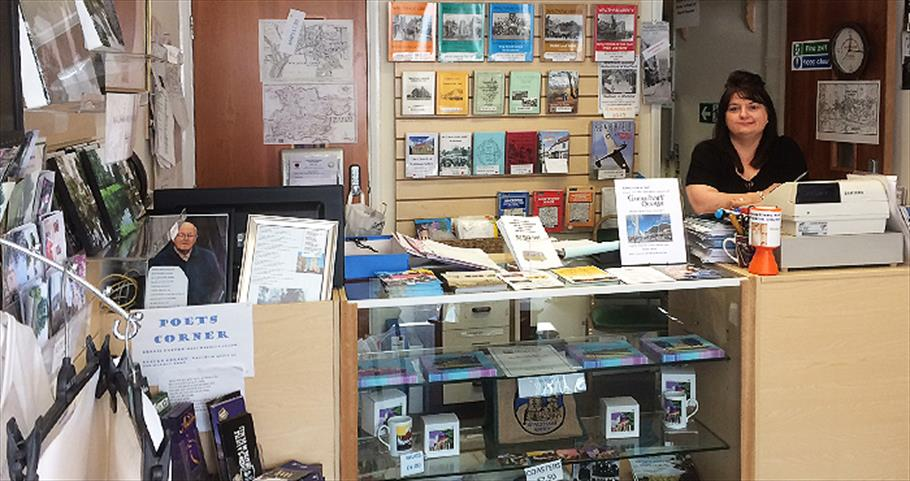 Inside the Waltham Abbey Tourist Information Centre