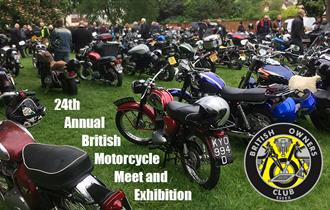 Motorcycle meet and exhibition on Blackmore Village Green.