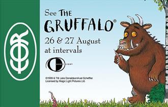 Oh help! Oh no! It's a Gruffalo! And he's coming to the Epping Ongar Railway!
