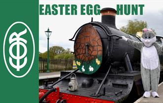Epping Ongar Railway Bunny at the Easter Egg Hunt