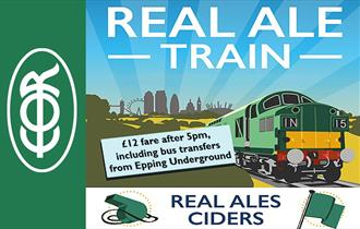 Epping Ongar Railway Real Ale Train. £12 fare after 5pm, including bus transfers from Epping Underground.