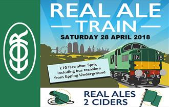 All on-board for the real ale special at Epping Ongar Railway