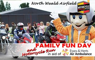 Essex and Herts Air Ambulance Motorcycle Run and Family Fun Day at North Weald Airfield