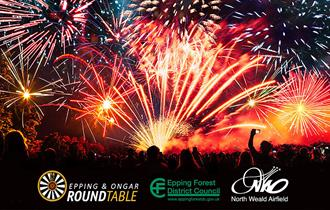 Epping & Ongar Round Table Fireworks Event at North Weald Airfield 2019