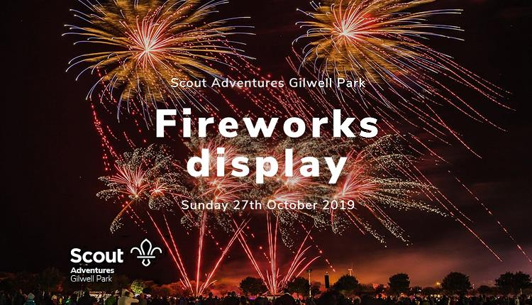 Fireworks display at Gilwell Park