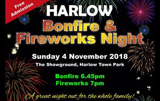 Harlow free bonfire and firework display 2018