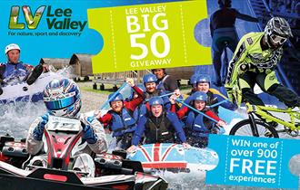 Lee Valley Big 50 celebration tickets give-away.