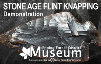 A demonstration of flint knapping at Epping Forest District Museum.