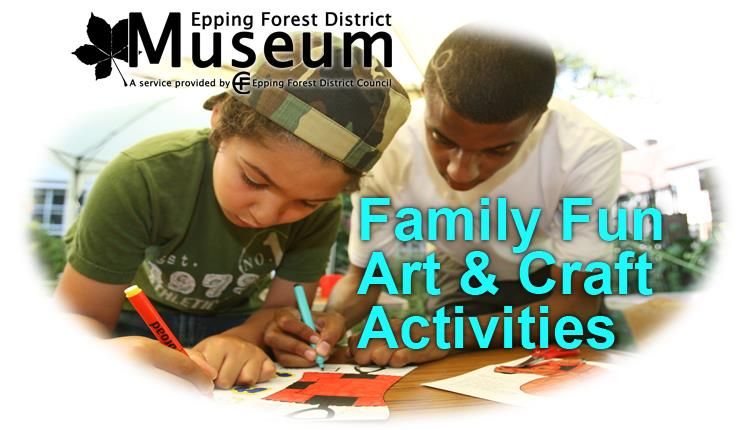 Family fun art and craft activity during the school holidays
