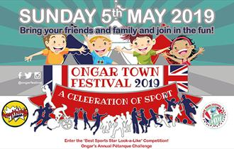 The theme for the 2019 Ongar Town Festival on May 5th is A Celebration of Sport.