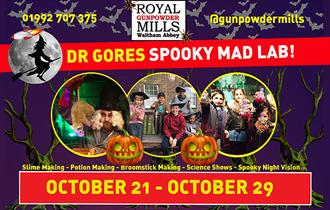 Dr Gores Spooky Mad Lab at the Royal Gunpowder Mills, Waltham Abbey.