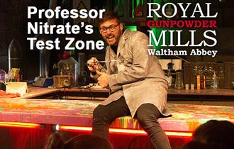 Professor Nitrate's Test Zone at the Royal Gunpowder Mills.