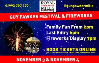 Guy Fawkes Festival and Fireworks at RGM Waltham Abbey.