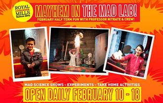 Feb half term fun in the Mad Lab at the Royal Gunpowder Mills Waltham Abbey