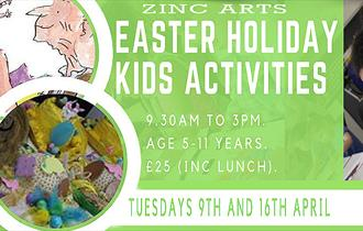 Easter Holiday activities for kids at Zinc Arts Ongar.