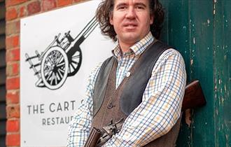 William Alldis, owner and chef at The Cart Shed restaurant, Thornwood, Epping.