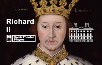 The Greek Theatre Players present Shakespeare's Richard 2 at Copped Hall.