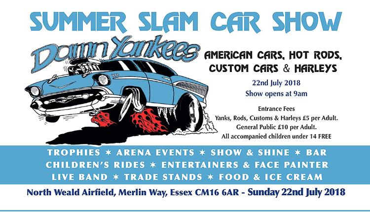 Damn Yankees Summer Slam Car Show, North Weald Airfield 2018.