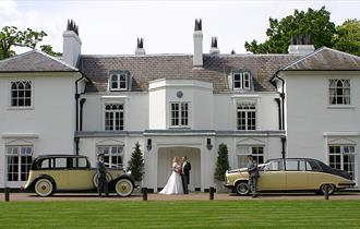 Wedding cars outside the White House Gilwell Park.
