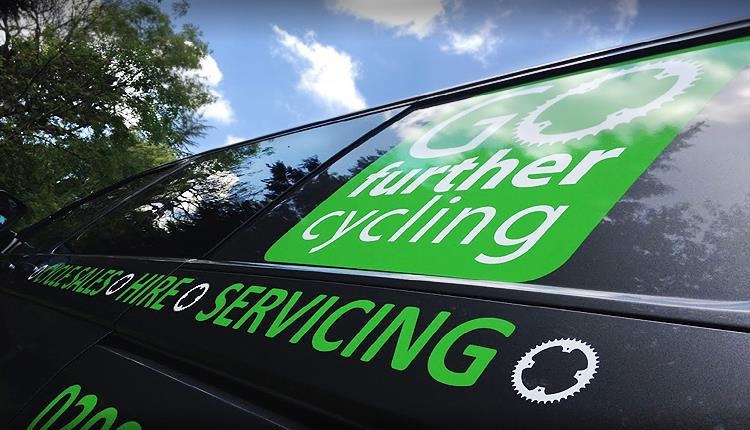 Go Further Cycling van