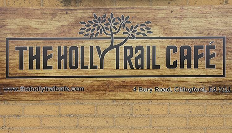 The Holly Trail Café sign, Epping Forest.
