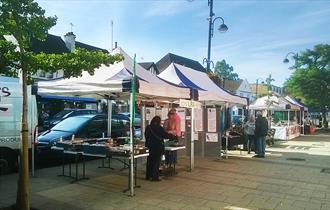 LRA stall at the Loughton Farmers Market, every second Sunday.