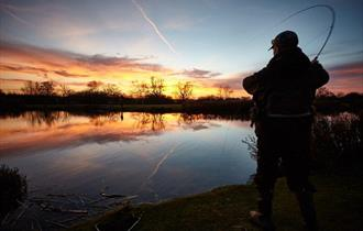 Evening fly fishing at Thornwood Springs Epping.