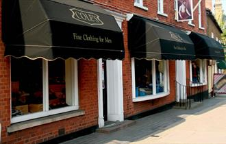 Coles Menswear Shop in Epping High Street.
