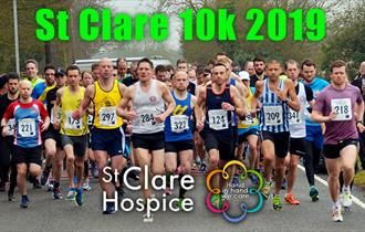 The St Clare 10k 2019 takes place on 7th April from the hospice in Hastingwood.