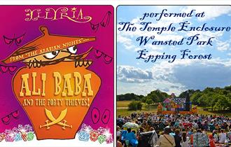 Illyria present Ali Baba and the Forty Thieves at The Temple, Wanstead Park, Epping Forest